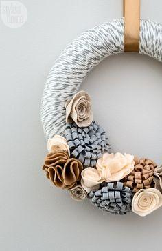 holiday decor multi purpose felt wreath photo donna griffith
