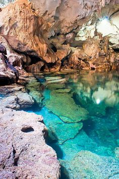 The Blue Grotto, Almalfi coast, Italy in Europe. Now this is stunning and you should totally go!