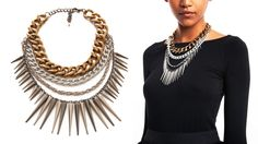 L-O-V-E this chain-&-spike necklace! Such a show-stopper; I have to have it! & @ only 45 dollars, it won't break the bank either!
