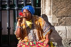 Cuban lady with a cigar