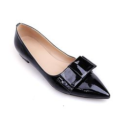 VogueZone009 Womens Closed Pointed Toe Patent Leather PU Solid Flats with Bowknot, Blackpatentleather, 4.5 B(M) US VogueZone009 http://www.amazon.com/dp/B00SIGTL44/ref=cm_sw_r_pi_dp_HfDXub088WWFZ