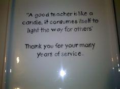 Quote for Teacher Retirement