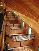 Custom horse stall partitions by Innovative Equine Systems sport a radiused curve that matches the curve of the stall front. Barn Stalls, Horse Stalls, Dream Stables, Dream Barn, Turkey Farm, Wild Turkey, Horse Barn Designs, Horse Barn Plans, Horse Ranch