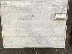 Bianco Carrara marble tile from Olympia Tile. Possible kitchen backsplash. Olympia Tile, Carrara Marble, Basement Bathroom, Walk In Shower, Kitchen Backsplash, Master Bath, Stone, Interior, Outdoor Decor