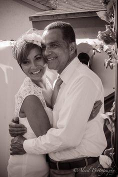 Wedding, black and white, happy couple, Mr & Mrs