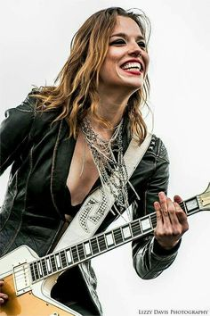 Lzzy Hale: Front Lady for the band Halestorm.