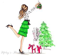 #MerryChristmas by @melsysillustrations| Be Inspirational ❥|Mz. Manerz: Being well dressed is a beautiful form of confidence, happiness & politeness