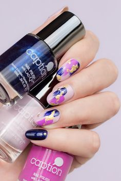 Abstract Purple Nail Design + How-To Video Tutorial link