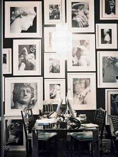 A beautiful black and white display