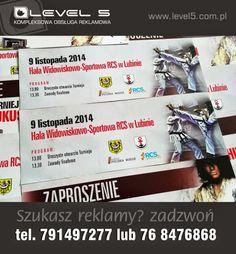 Wydruk biletów, wejściówek w Lubinie.