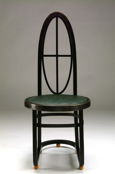 Carl Bergsten Chair 1906. Influenced by his meeting with Otto Wagner and Josef Hoffmann in Vienna, he designed this chair for an exhibition.