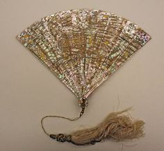 Date:. 1870 Culture: French Medium:  shell, silk, metal