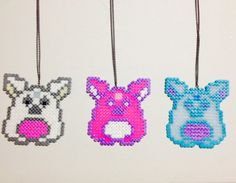 Furby Necklace Perler Rave Pastel  by HamaBasi on Etsy