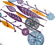 Mangle Prints: Autumn Lino Print