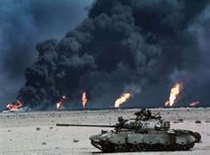 Operation Desert Storm during the Persian-Gulf War at one of the places he fought as a Marine.