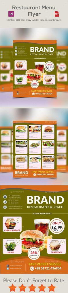 Restaurant Menu Flyer - http://www.codegrape.com/item/restaurant-menu-flyer/5286