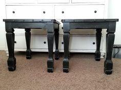 Black Distressed Side Tables