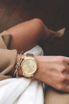 "vividessentials: ""Women's All Gold Watch 