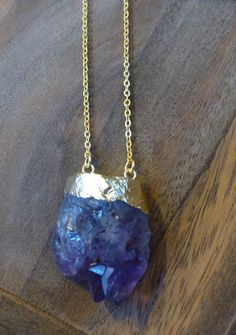 Amethyst Necklace by HastonKing on Etsy