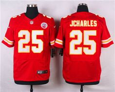 Nike Kansas City Chiefs  25 Jamaal Charles Red Elite Jersey 57beb98e6
