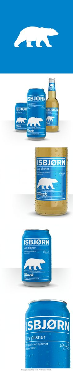 Loving this #beer packaging! #design #polarbears  Mack Isbjørn (Polar Bear) Beer
