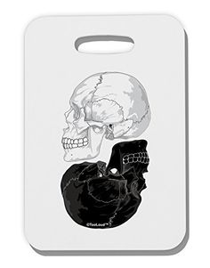 TooLoud White And Black Inverted Skulls Thick Plastic Luggage Tag *** See this great product.Note:It is affiliate link to Amazon.