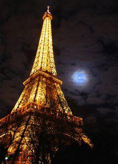 Eiffel by moonlight.