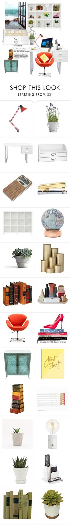 """Untitled #210"" by eveallen-1 ❤ liked on Polyvore featuring Potting Shed Creations, Improvements, LEXON, russell+hazel, Bellerby & Co, ferm LIVING, Seletti, Ceets, ASUS and Chronicle Books"