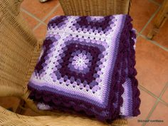 baby blanket crochet patterns with squares   Hooked on Needles: Mitered Squares Baby Blanket -- Crocheted