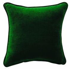 Confetti velour cushion in green - hardtofind. Velour Fabric, Velvet Cushions, Soft Furnishings, Linen Bedding, Blue Green, Emerald Green, Confetti, Throw Pillows, Color