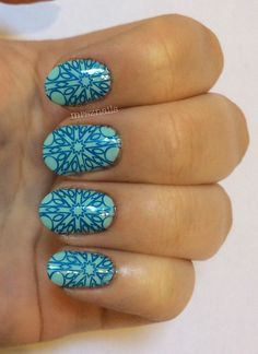 mrsznails:  Stamped so cleanly  love it - Emily De Molly - stamping plate 9