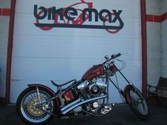 Chopper 1992 Custom Built Candy Pearl Sick Chopper Bobber.  Click this thing and get a close up of the fantastic paint.