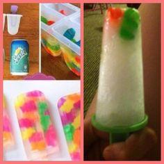 Gummy bear popsicles!