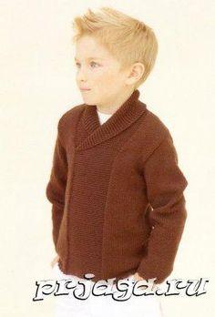 Пуловер для мальчика спицами