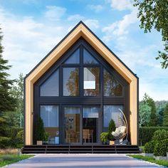 Small House Design, Modern House Design, Plano Hotel, Modern Barn House, A Frame House, Modern Farmhouse Exterior, Forest House, Dream House Exterior, Facade House