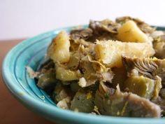 Artichokes and potatoes recipe