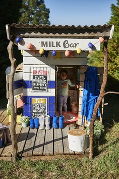 Castle and Cubby Milk Bar Cubby - made from recycled timber in Melbourne, Australia