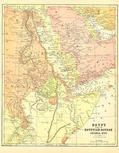 Hong Kong Historical Map Vintage Map Restored Vintage - Vintage map of egypt