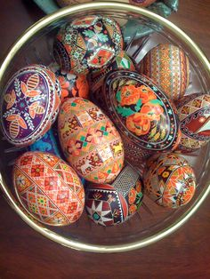 Goose eggs done Ukrainian style!!