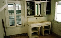 Inside the decaying ruins of Henry Ford's failed utopia: domestic kitchen, Fordlandia, Brazil.