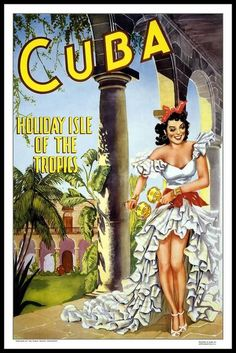 """""""Cuba Vintage Travel Poster"""" by Shan Maree Hall Ballester, Tweed Heads West, Gold Coast, Australia // Cuba Vintage Travel Poster // Imagekind.com -- Buy stunning, museum-quality fine art prints, framed prints, and canvas prints directly from independent working artists and photographers."""