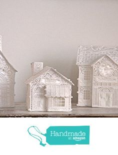 Christmas Village, a beautiful combination of items, includes the Church, Bakery Shop and Town Hall, all done in Free Standing Lace (FSL) from Kate Izzy & Bean http://www.amazon.com/dp/B016LGKS0S/ref=hnd_sw_r_pi_dp_0r.nwb16K0HE7 #handmadeatamazon