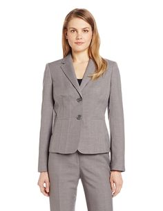 Kasper Women's 2 Button Melange Notch Collar Suit Jacket ** This is an Amazon Affiliate link. To view further for this item, visit the image link.