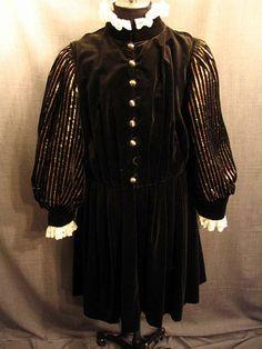 09027266 Robe Men's Renaissance, black gold velour, 43L.JPG