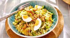 Indiase bonen met kerrie-eieren