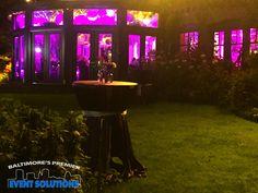 Uplighting for wedding reception at Gramercy Mansion