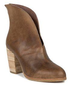 Love this Khaki Split Leather Bootie on #LoVe