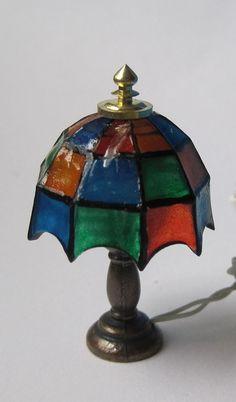 Tischlampe Tiffany Puppenhaus Miniaturlampe für Diele Wohnzimmer