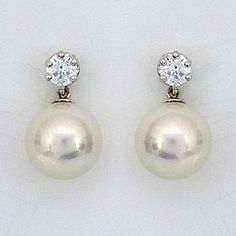 Antique Gold Pearl Earrings Vintage On Studs Clip Post Bridesmaid Pinterest