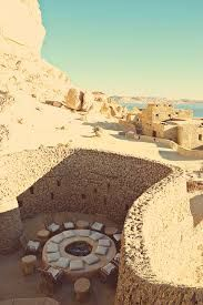 Adrere Amellal desert Eco Lodge- Siwa Oasis - Egypt materials used are very convenient with the desert environment